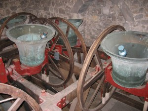 The Belfry showing bells 3, 5, 4 & 6 (l-r)