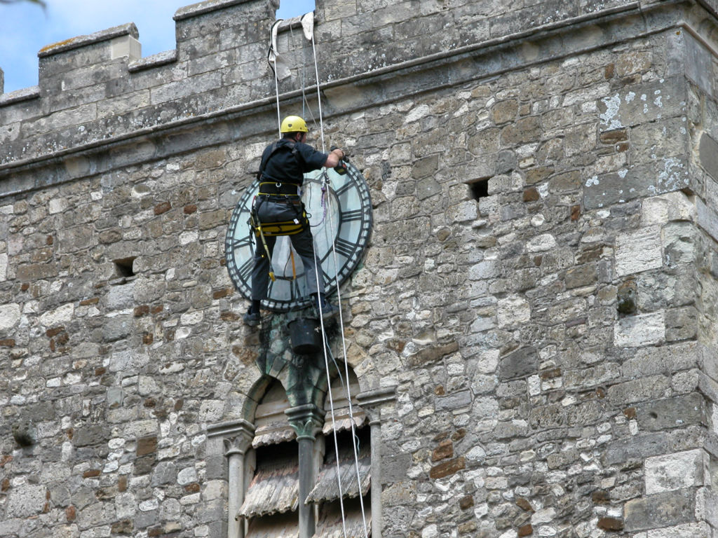 Clock Face Cleaning - June 2005